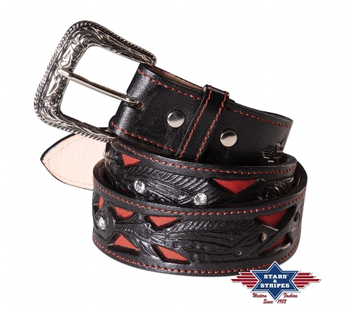 Cintura in pelle Stars & Stripes WG-106